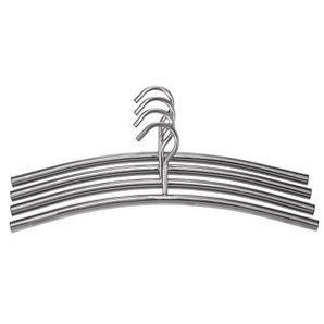 4 Metall Kleiderbügel silber
