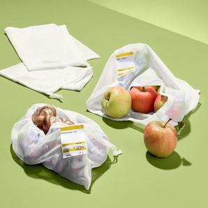 4 Obst- und Gemüsenetze - Weiß -