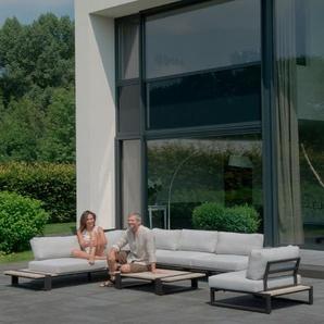 4 SEASONS OUTDOOR Gartensofa-Modul Gartensofa-Modul, Grau, Aluminium
