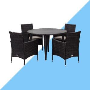 4-Sitzer Gartengarnitur Landrum mit Polster
