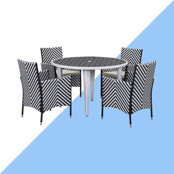 4-Sitzer Gartengarnitur Bjarne mit Polster