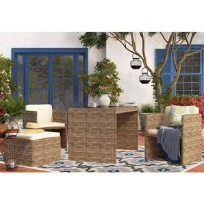 4-Sitzer Gartengarnitur Carrara mit Polster