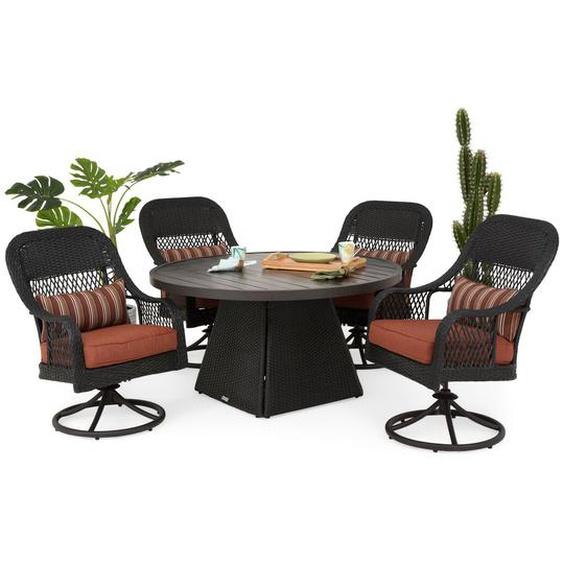 4-Sitzer Gartengarnitur Cruxanne mit Polster