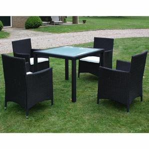 4-Sitzer Gartengarnitur Desirae mit Polster