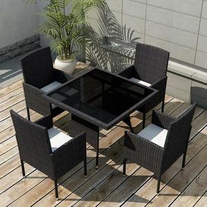 4-Sitzer Gartengarnitur Destin mit Polster
