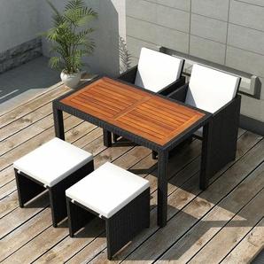 4-Sitzer Gartengarnitur Kelleher mit Polster