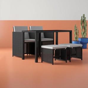 4-Sitzer Gartengarnitur Deniece mit Polster
