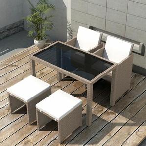 4-Sitzer Gartengarnitur Randolf mit Polster