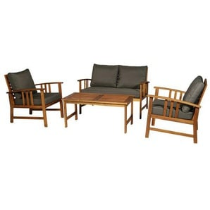 4-Sitzer Lounge-Set Cirillo mit Polster