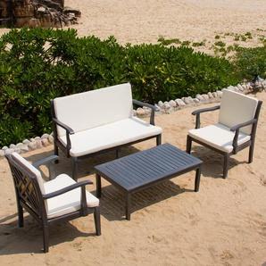 4-Sitzer Lounge-Set Eusden mit Polster