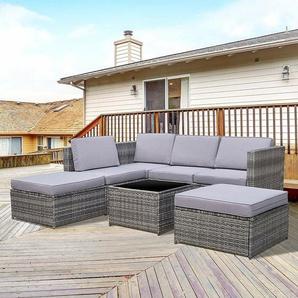 4-Sitzer Lounge-Set Mcgaughey aus Polyrattan