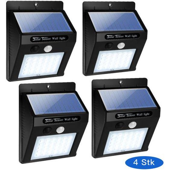 4 Solarleuchte 30 LED Solarlampe Wasserdichte Solarlicht mit Bewegungsmelder
