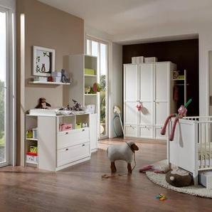 4-tlg. Baby-/Kinderzimmer in alpinweiß  Kleiderschrank B: 135 cm, Babybett 70 x 140 cm, Wickelkommode B: 90 cm