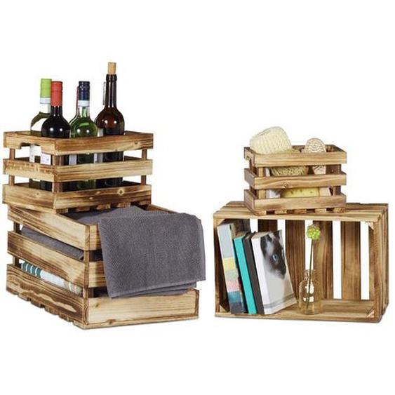 4-tlg. Boxen-Set aus Holz
