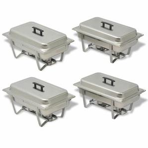 Edelstahl 4-teiliges Chafing Dish Set, 4-teilig