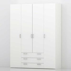 4 t�riger Kleiderschrank in Wei� modern