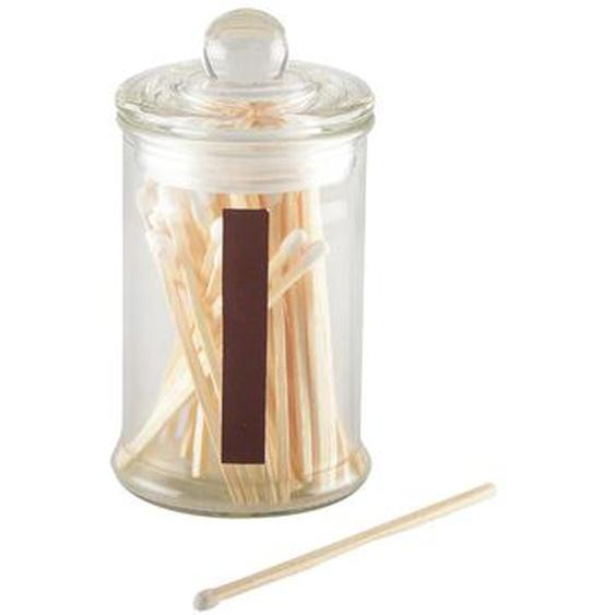 42-tlg. Streichhölzer-Set mit Glas