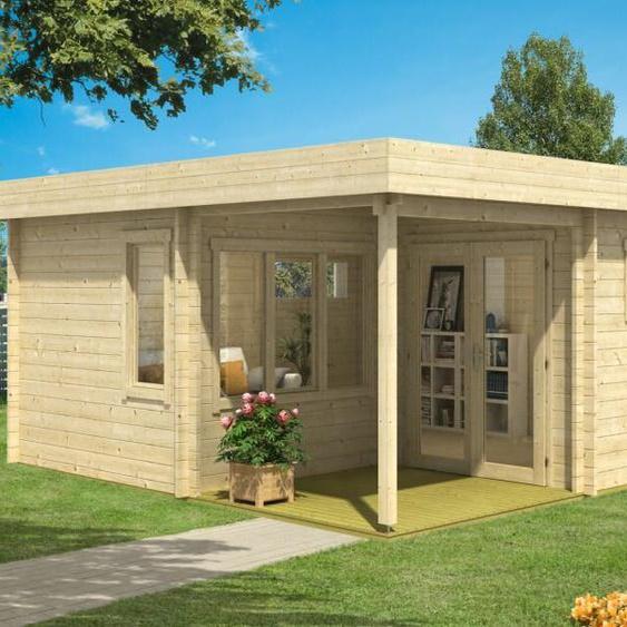 420 cm x 520 cm Gartenhaus Indigo
