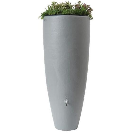 4rain Regenwasserbehälter 2in1, 300 L, Komplett-Set mit Auslaufhahn und Fallrohranschluss