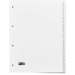 dots Register A4 1-31 weiß 31-teilig