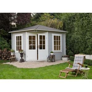 Alpholz - 5-Eck Gartenhaus aus Holz Modell Monica , mit Imprägnierung , Ohne Schutz-Imprägnierung:Mit Imprägnierung (Pinie)|Wandstärke:28 mm Wandstärke