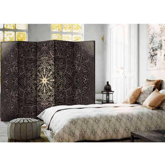 5 Elementen Paravent mit Mandala Motiv 225 cm breit