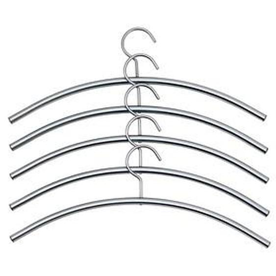 5 Kerkmann Metall Kleiderbügel silber