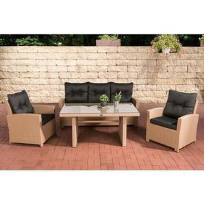 5-Sitzer Lounge-Set Fisolo aus Polyrattan mit Polster