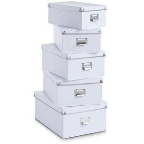 5-tlg. Aufbewahrungsboxen-Set aus Karton