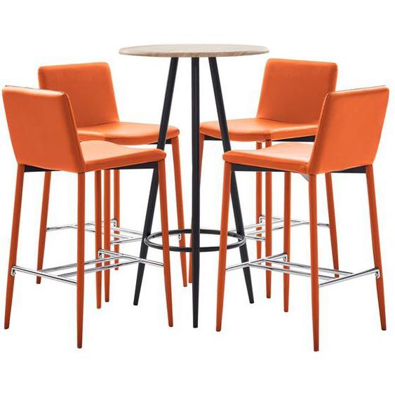 5-tlg. Bar-Set Kunstleder Orange