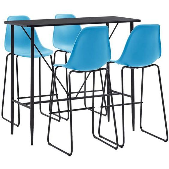 5-tlg. Bar-Set Kunststoff Blau