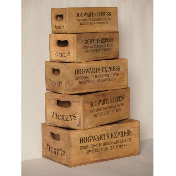 5-tlg. Kisten-Set Roucourt aus Massivholz