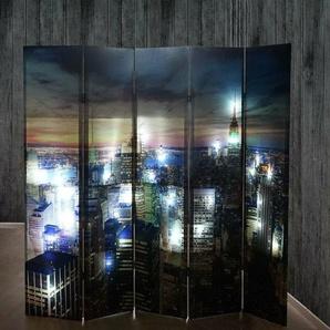 5-tlg. Raumteiler New York Hendrick, 180 x 200 cm