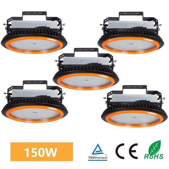 5er Anten LED High Bay Licht 22000lm 150W Kaltweiß(6000-6500K) LED Hallenleuchte/LED SMD Hallenstrahler Dank Schutzart IP65 sowohl für den Innen- als auch Aussenbereich