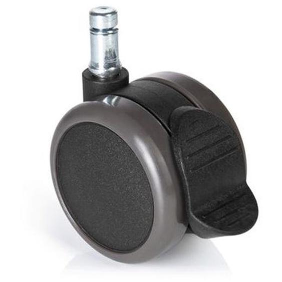 5x ROLO STOP 11mm/65mm - Stuhlrollen Schwarz