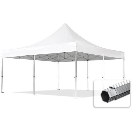5x5 m Faltpavillon, PROFESSIONAL Alu 50mm, feuersicher, weiß