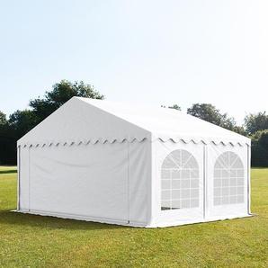 5x5 m Partyzelt, PVC-Plane 500 g/m², weiß