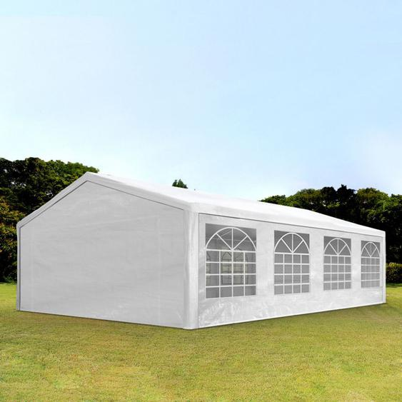 5x8 m Partyzelt, PE-Plane 180 g/m², weiß