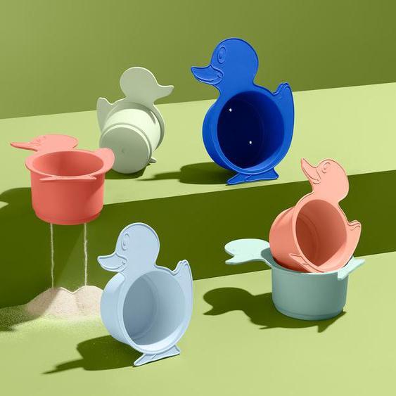 6 Bade- und Sandspielbecher - hellblau -