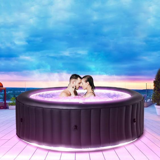 6 Personen LED Whirlpool aufblasbar MSPA AURORA Outdoor Garten Massage Pool 2021