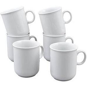 6 Seltmann Weiden Kaffeebecher Compact weiß