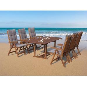 6-Sitzer Gartengarnitur Cuba mit Polster