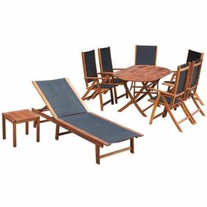 6-Sitzer Gartengarnitur Delmare