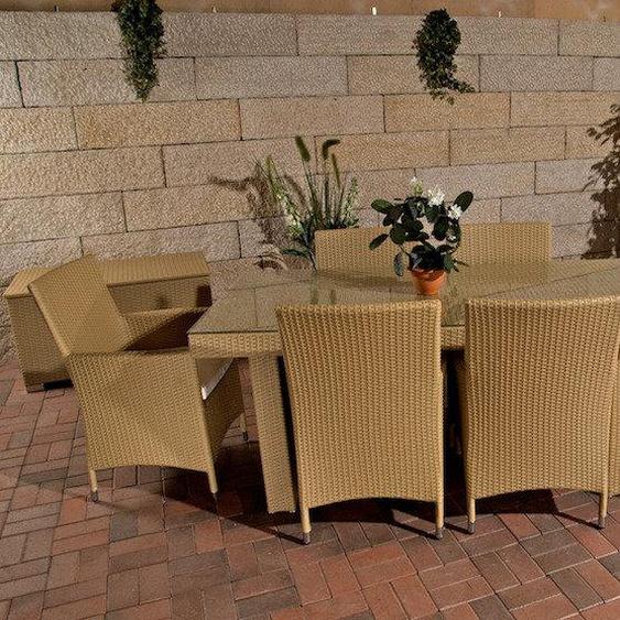 6-Sitzer Gartengarnitur mit Polster