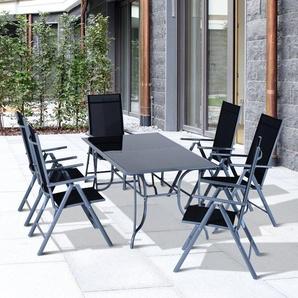 6-Sitzer Gartengarnitur Outsunny