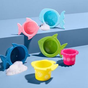 6 Wasser- und Sandspielbecher - blau -