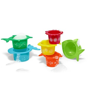 6 Wasser- und Sandspielbecher - orange -