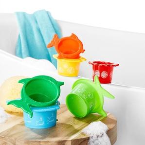 6 Wasserspielbecher - orange -