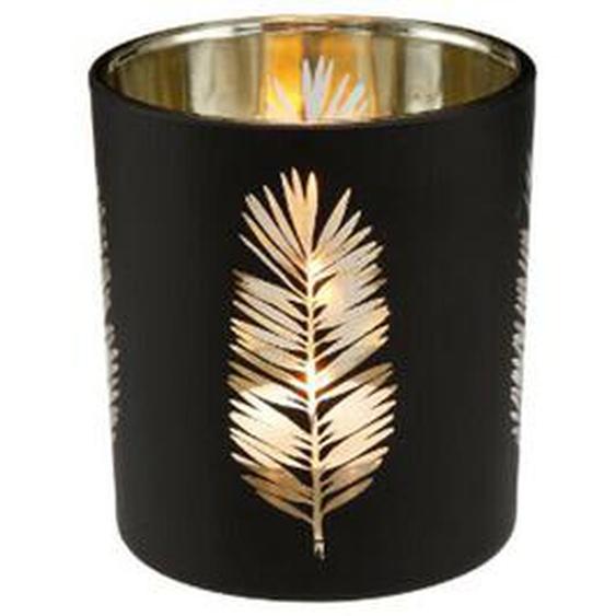 6 X Goebel Palmtree - Teelicht, Glas, Höhe: 8 Cm Schwarz Glas 23120611