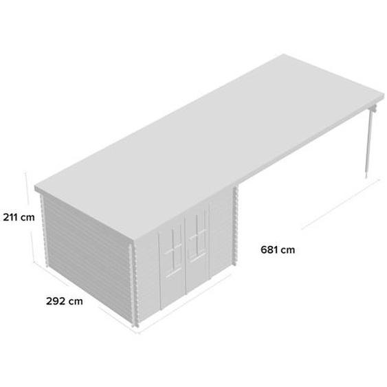 681 cm x 292 cm Gartenhaus